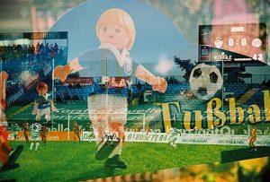 Stadion mit Playmobilland