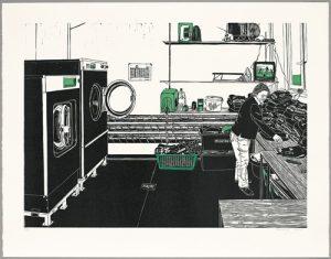 Frau Gran in der Waschküche, 2006